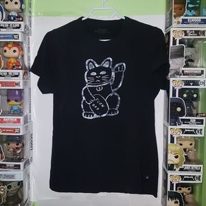 🚨2 For $15 French Connection UK Lucky Cat T-shirt